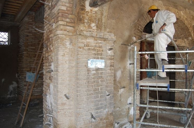 consolidamento muratura con malta