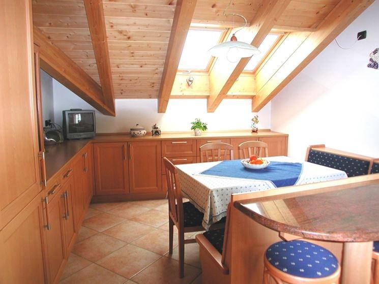 Mansarda ottimizzare gli spazi per un nuovo vano - Cucine in mansarda ...