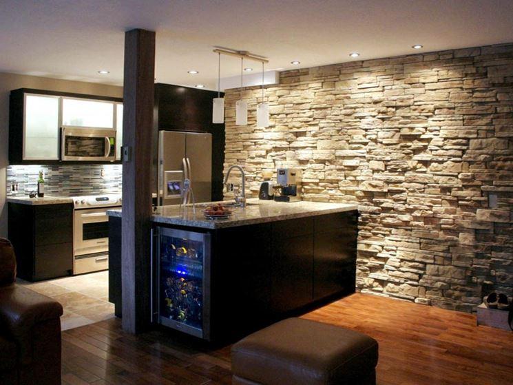 cucina in seminterrato