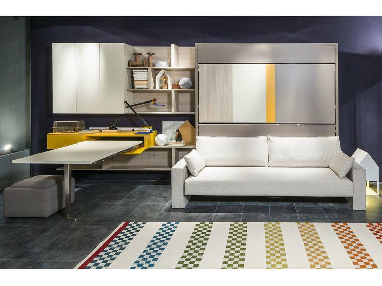 Ricavare una camera per gli ospiti dal soggiorno ristrutturazione casa come ricavare una - Soggiorno con letto a scomparsa ...