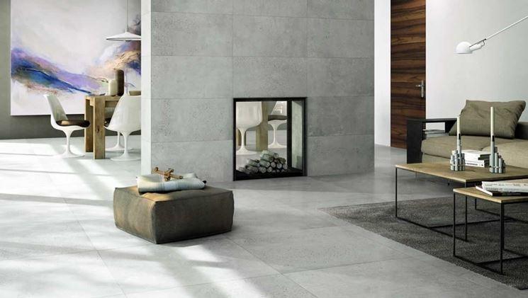 esempio di rivestimento in cemento