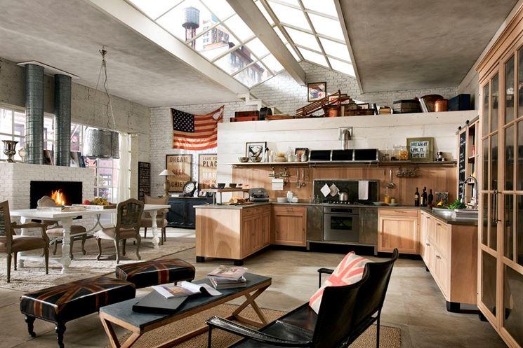 esempio di interni industrial style