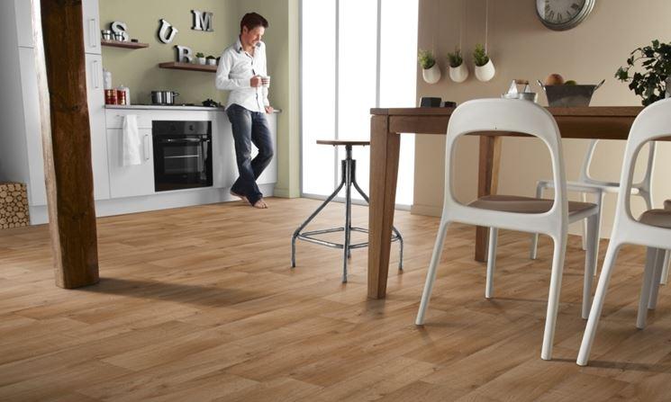 pavimento in vinile effetto legno