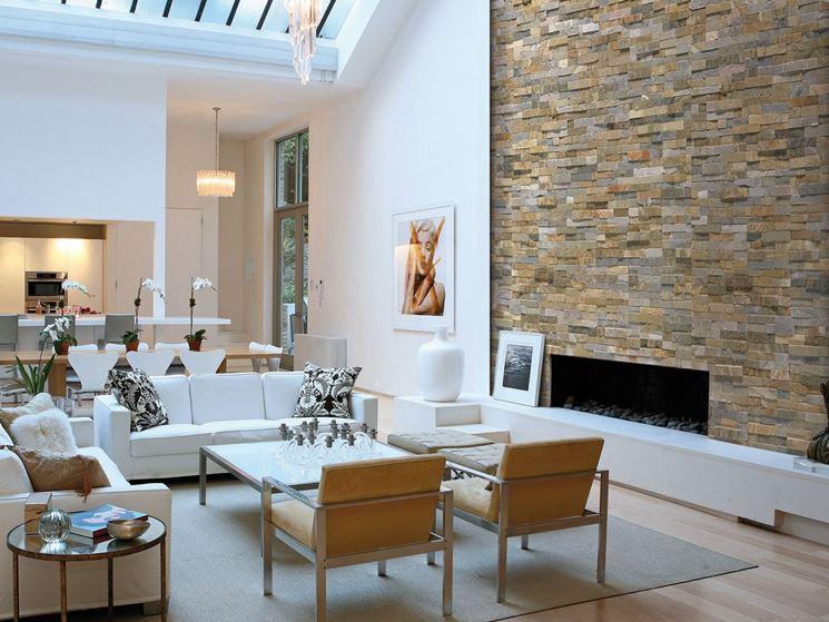 Rivestimenti in pietra per interni rivestimenti - Parete rivestita in pietra ...