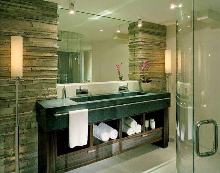 pietra ricostruita per il bagno