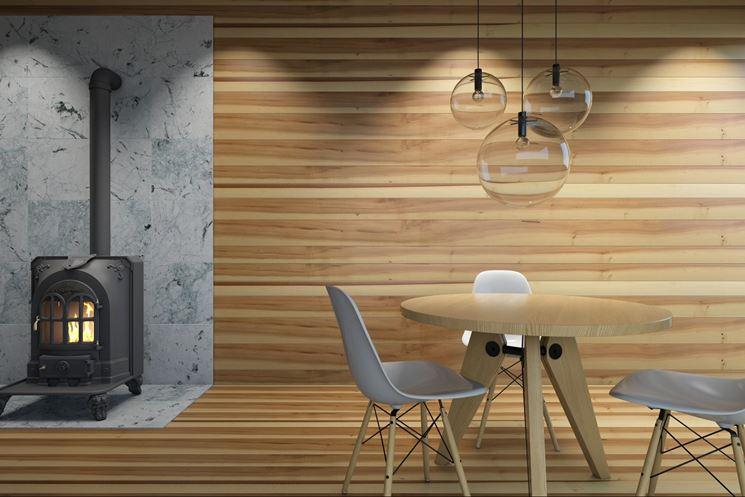 Rivestimento per parete in legno