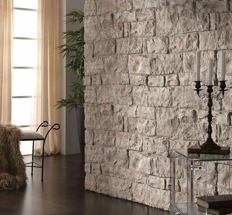 Rivestimento finta pietra rivestimenti tipologie di for Listino prezzi pannelli finta pietra
