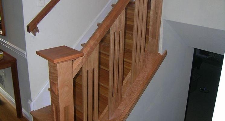 Esempio di balaustra in legno