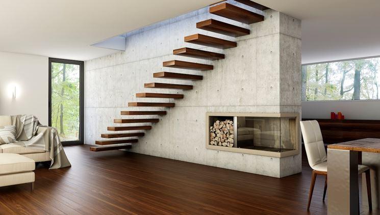 scale a sbalzo legno