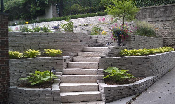 scala in giardino