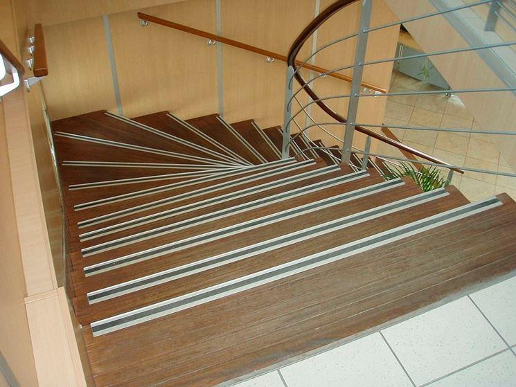 scale con gradini con profili antiscivolo