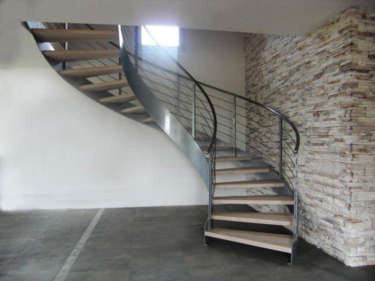 Progetto scala a chiocciola scale - Scale interno casa ...