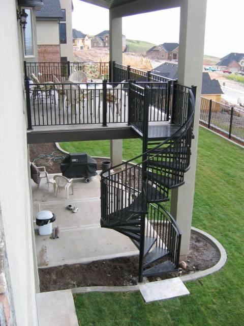 Scale a chiocciola esterno scale - Scale esterne casa ...