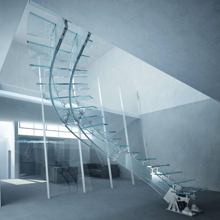 Scale in vetro e acciaio scale - Casa in acciaio e vetro ...