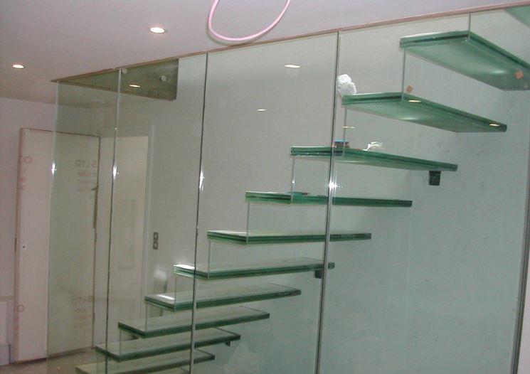 Materiali scale in vetro
