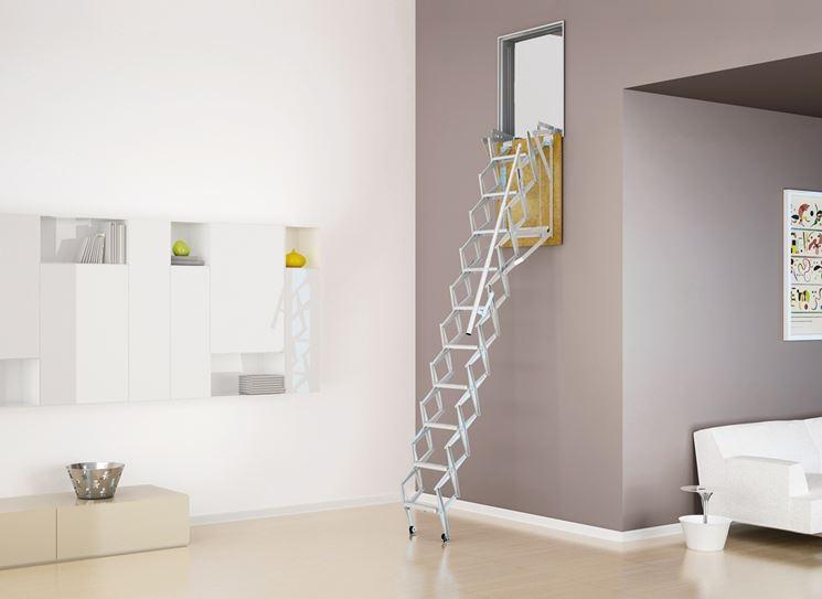 scala retrattile a parete