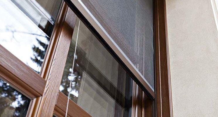 Porta finestra con zanzariera