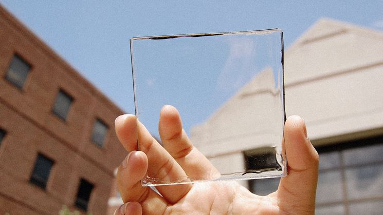 gel fotovoltaico su vetro