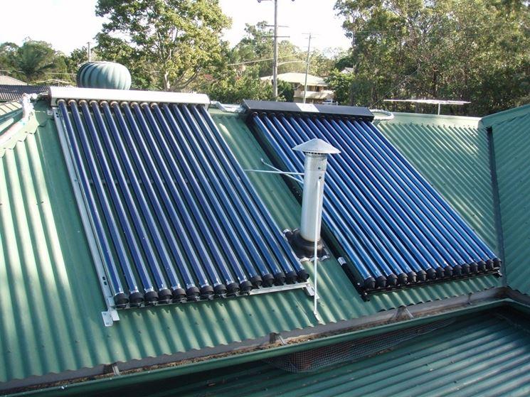 Pannelli solari per acqua calda