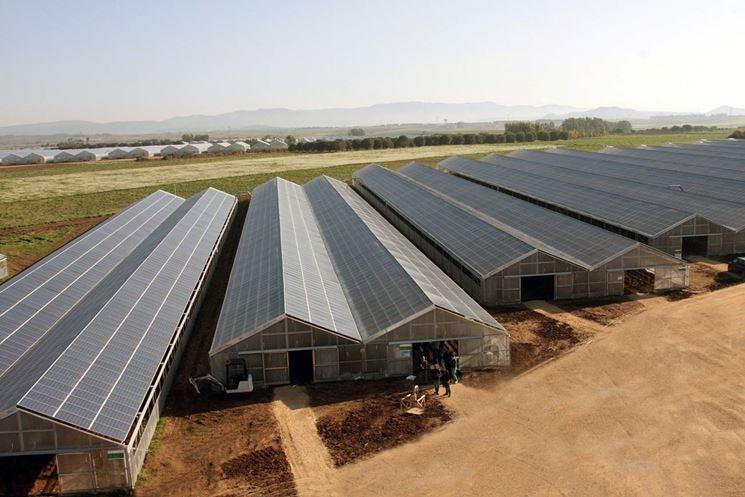 esempio serra fotovoltaica