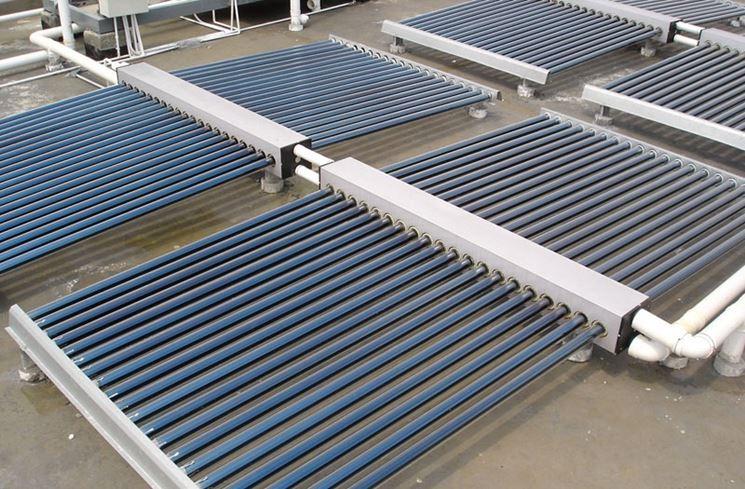 Impianto con collettori solari