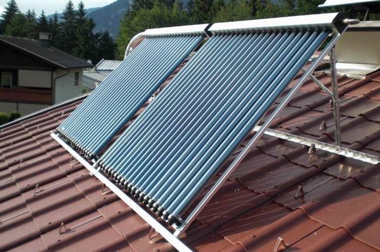 Collettore solare sul tetto