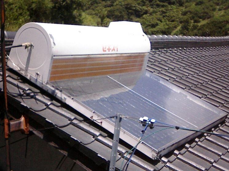Pannello solare con serbatoio