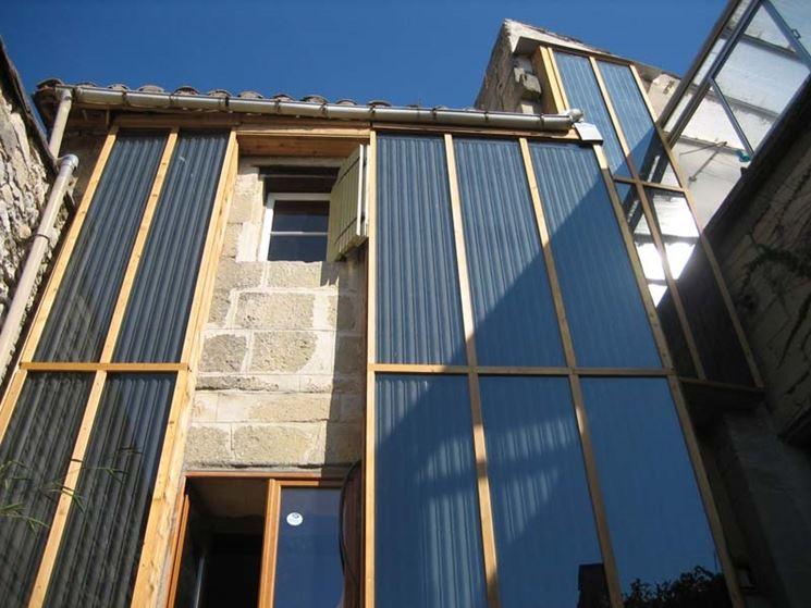 Pannello solare termico verticale