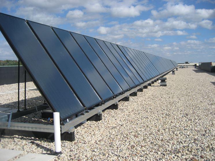 Serie di pannelli solari