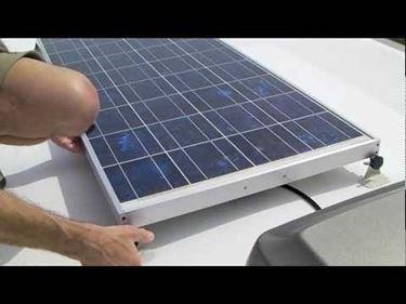 pannelli solari in un camper