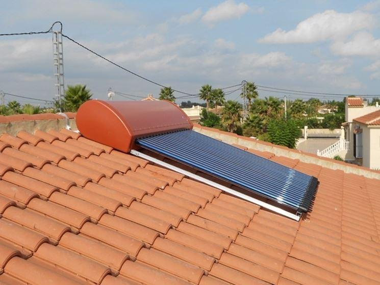 esempio di pannello solare termico