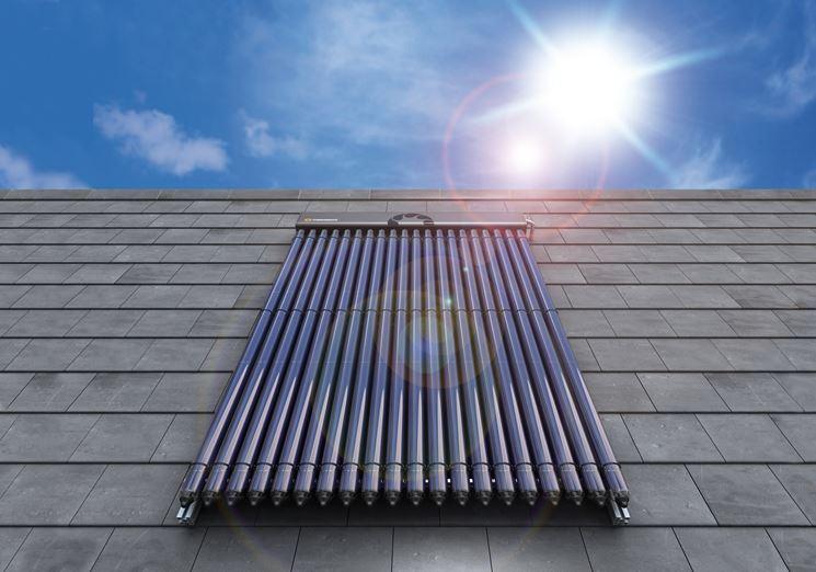 Impianto solare termico tetto