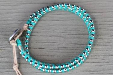 bracciale con filo di cotone e catena
