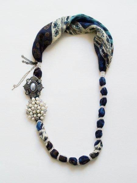 Favoloso Collana di stoffa fai da te - Bigiotteria LP71