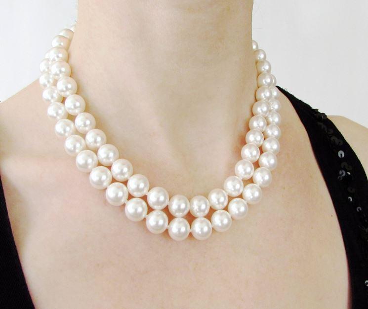 Collana di perle con due giri