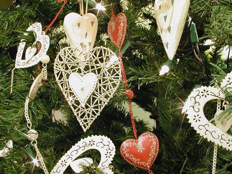 decori per albero di Natale shabby