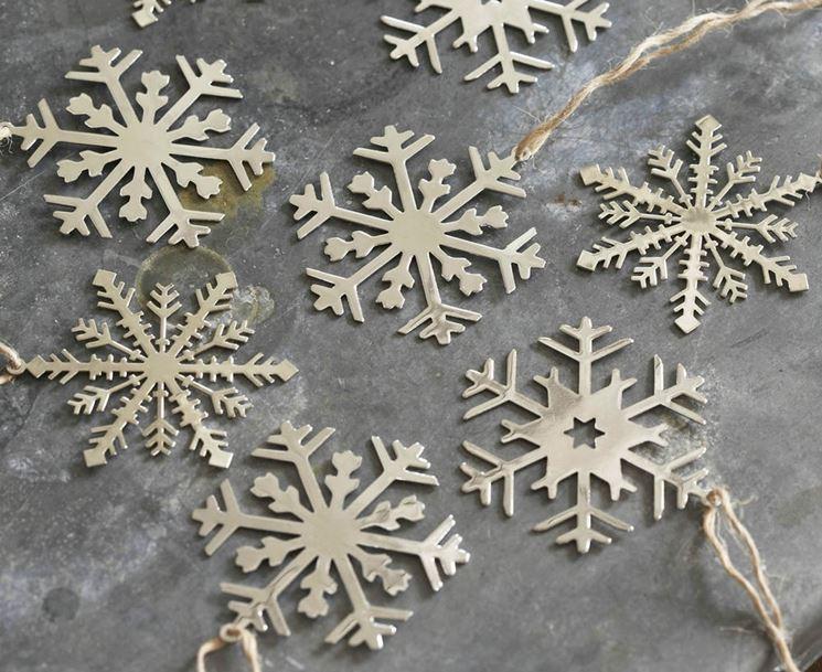 fiocchi di neve per albero di Natale