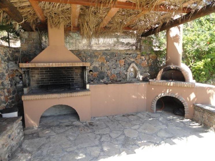 Arredi in muratura da esterno un progetto versatile - Forno per pizza da giardino ...