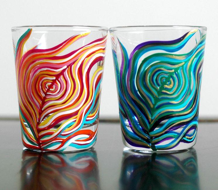 decorazione su vetro