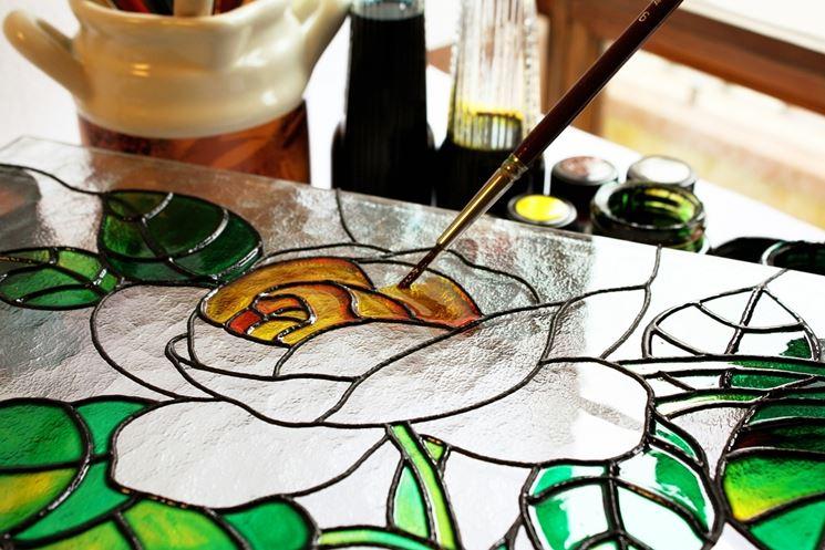 decorare il vetro