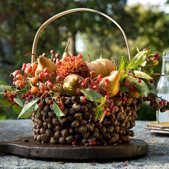 Decorare la tavola con frutta e fiori bricolage - Decorazioni con frutta essiccata ...