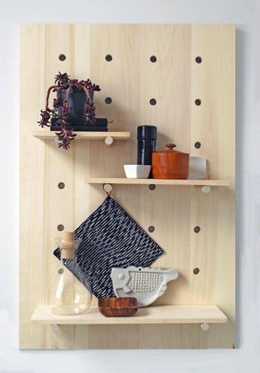 mensole con tavole in legno