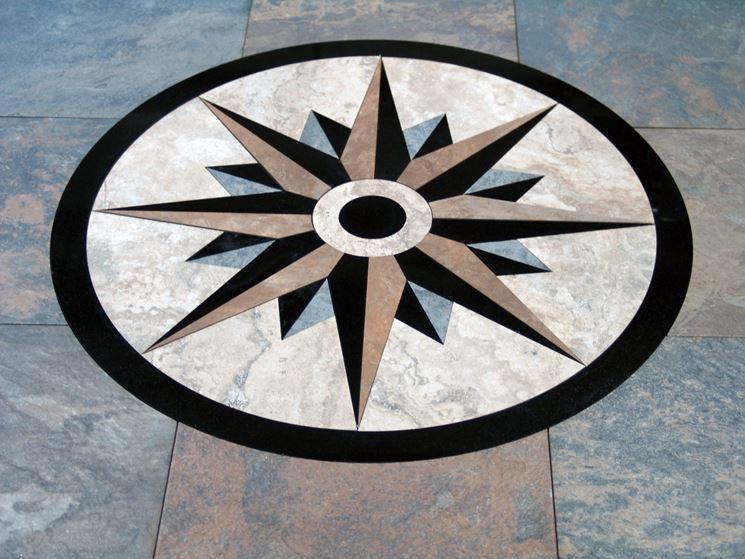 esempio di rosone per pavimento