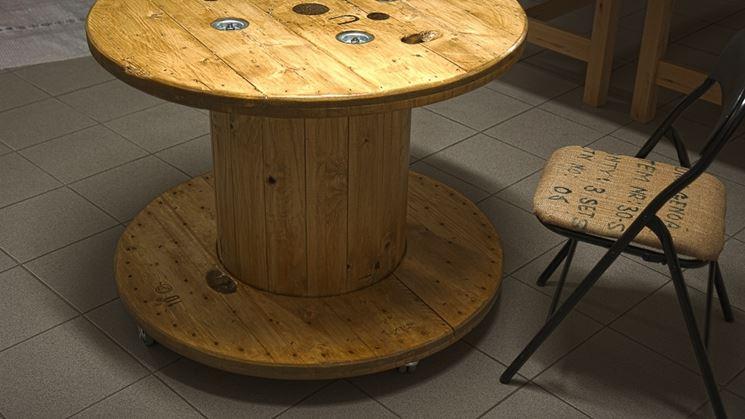 tavolino da esterno con bobina