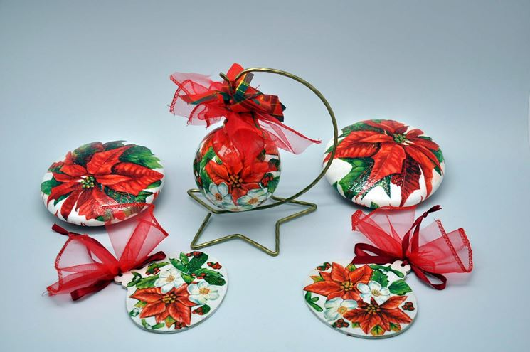 decorazioni natalizie con decopupage
