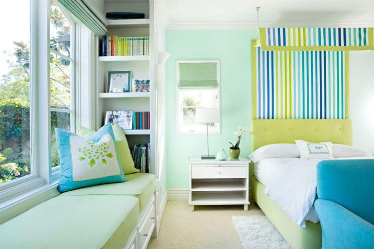 camera nei toni del verde