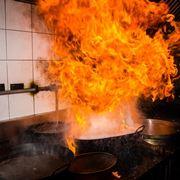 incendio in cucina