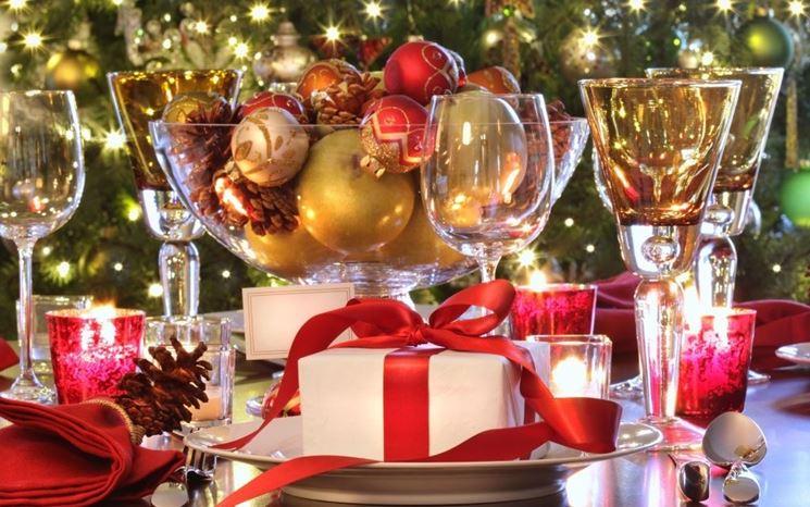 decori tavola di Natale