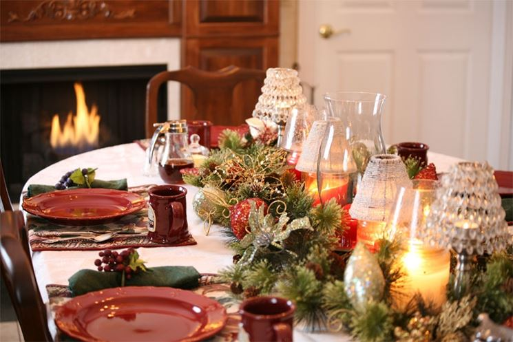 decorare tavola per Natale