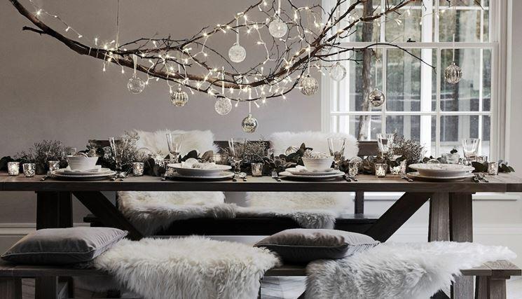 tavola moderna per Natale